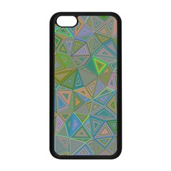 Triangle Background Abstract Apple Iphone 5c Seamless Case (black)