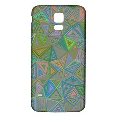 Triangle Background Abstract Samsung Galaxy S5 Back Case (white)