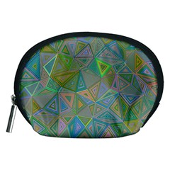Triangle Background Abstract Accessory Pouches (medium)