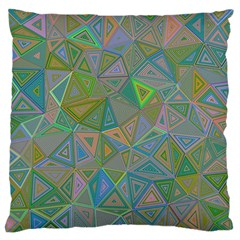 Triangle Background Abstract Large Flano Cushion Case (two Sides)