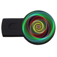 Spiral Vortex Fractal Render Swirl Usb Flash Drive Round (2 Gb)