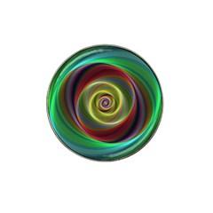 Spiral Vortex Fractal Render Swirl Hat Clip Ball Marker (4 Pack)