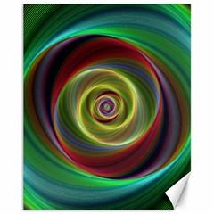 Spiral Vortex Fractal Render Swirl Canvas 11  X 14