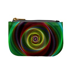 Spiral Vortex Fractal Render Swirl Mini Coin Purses