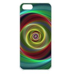 Spiral Vortex Fractal Render Swirl Apple Iphone 5 Seamless Case (white)