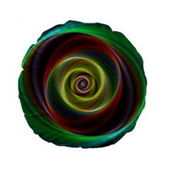 Spiral Vortex Fractal Render Swirl Standard 15  Premium Round Cushions