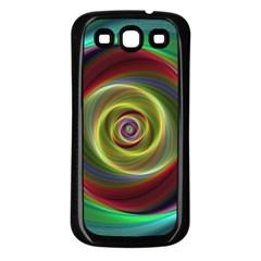 Spiral Vortex Fractal Render Swirl Samsung Galaxy S3 Back Case (black)