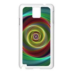 Spiral Vortex Fractal Render Swirl Samsung Galaxy Note 3 N9005 Case (white)