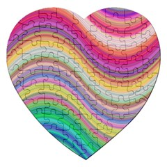 Wave Background Happy Design Jigsaw Puzzle (heart)