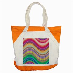 Wave Background Happy Design Accent Tote Bag