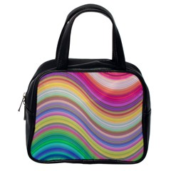 Wave Background Happy Design Classic Handbags (one Side)