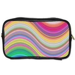Wave Background Happy Design Toiletries Bags 2 Side