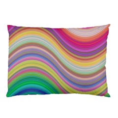 Wave Background Happy Design Pillow Case (two Sides)