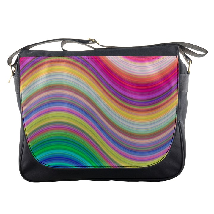 Wave Background Happy Design Messenger Bags