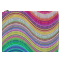 Wave Background Happy Design Cosmetic Bag (xxl)