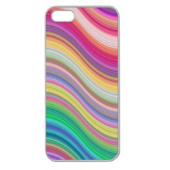 Wave Background Happy Design Apple Seamless Iphone 5 Case (clear)