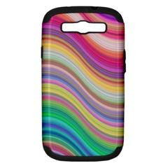 Wave Background Happy Design Samsung Galaxy S Iii Hardshell Case (pc+silicone)