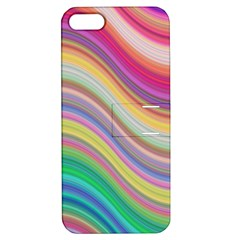 Wave Background Happy Design Apple Iphone 5 Hardshell Case With Stand