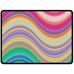 Wave Background Happy Design Double Sided Fleece Blanket (large)