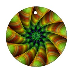 Vision Wallpaper Decoration Round Ornament (two Sides)
