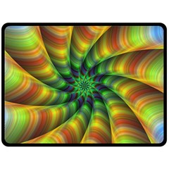 Vision Wallpaper Decoration Double Sided Fleece Blanket (large)