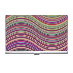 Wave Abstract Happy Background Business Card Holders