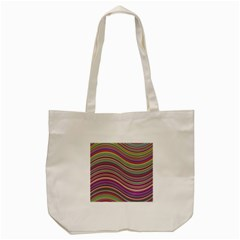 Wave Abstract Happy Background Tote Bag (cream)