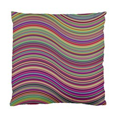 Wave Abstract Happy Background Standard Cushion Case (one Side)