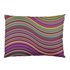 Wave Abstract Happy Background Pillow Case
