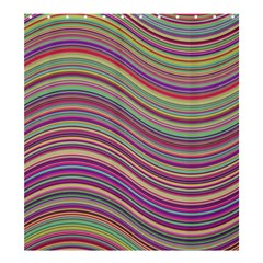 Wave Abstract Happy Background Shower Curtain 66  X 72  (large)
