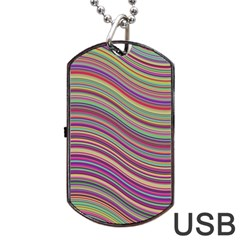 Wave Abstract Happy Background Dog Tag Usb Flash (two Sides)