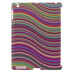 Wave Abstract Happy Background Apple Ipad 3/4 Hardshell Case (compatible With Smart Cover)