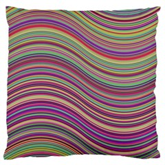 Wave Abstract Happy Background Large Cushion Case (two Sides)