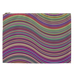 Wave Abstract Happy Background Cosmetic Bag (xxl)