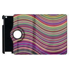 Wave Abstract Happy Background Apple Ipad 2 Flip 360 Case