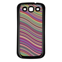 Wave Abstract Happy Background Samsung Galaxy S3 Back Case (black)