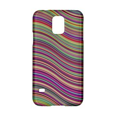 Wave Abstract Happy Background Samsung Galaxy S5 Hardshell Case