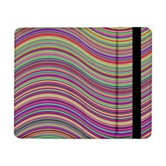 Wave Abstract Happy Background Samsung Galaxy Tab Pro 8 4  Flip Case