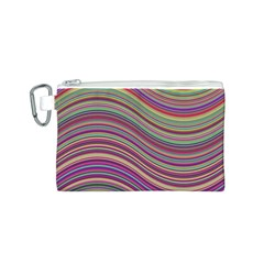 Wave Abstract Happy Background Canvas Cosmetic Bag (s)