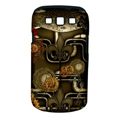 Wonderful Noble Steampunk Design, Clocks And Gears And Butterflies Samsung Galaxy S Iii Classic Hardshell Case (pc+silicone)