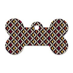 Native American Pattern 5 Dog Tag Bone (one Side)