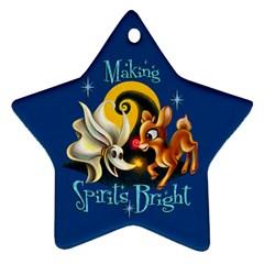 Making Spirits Bright Star Ornament