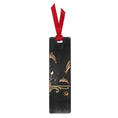 Wonderful Dolphins And Flowers, Golden Colors Small Book Marks