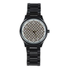 Native American 17 Stainless Steel Round Watch