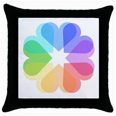 Heart Love Wedding Valentine Day Throw Pillow Case (black)