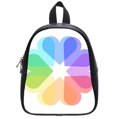 Heart Love Wedding Valentine Day School Bag (small)