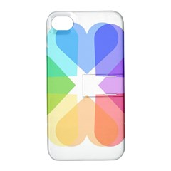 Heart Love Wedding Valentine Day Apple Iphone 4/4s Hardshell Case With Stand