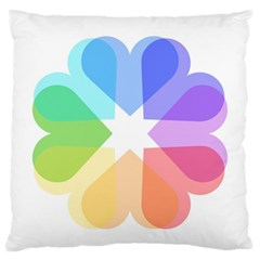 Heart Love Wedding Valentine Day Large Flano Cushion Case (two Sides)