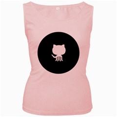 Logo Icon Github Women s Pink Tank Top