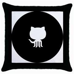 Logo Icon Github Throw Pillow Case (black)